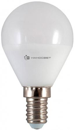Лампа светодиодная шар Наносвет L128 E14 6.5W 2700K LE-P45-6.5/E14/827