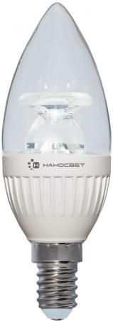 Лампа светодиодная свеча Наносвет L213 E14 6.5W 4000K LC-CDCL-6.5/E14/840 энергосберегающая лампа наносвет l251 e14 840 ecoled