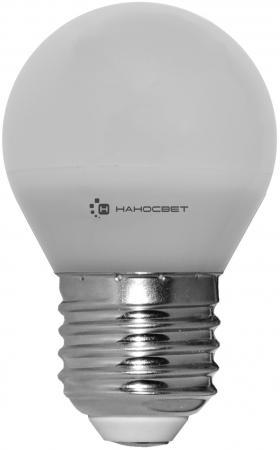 Лампа светодиодная шар Наносвет E27 6.5W 2700K LE-P45-6.5/E27/827 L132