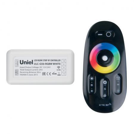 Контроллер для светодиодных лент 12/24В с пультом ДУ 2,4 ГГц (11107) Uniel ULC-G50-RGBW Black контроллер uniel ulc g50 rgbw white