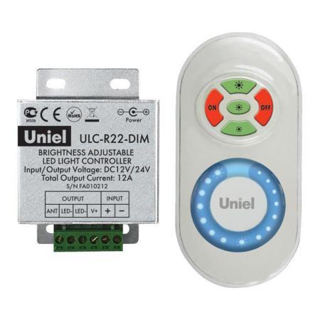 Контроллер для управления яркостью одноцветных светодиодов с пультом (05947) ULC-R22-DIM White контроллер uniel ulc g50 rgbw white