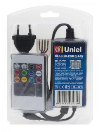 Контроллер для светодиодных RGB лент (10800) Uniel ULC-N20-RGB Black цены