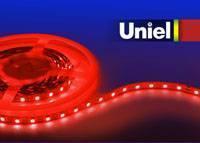 Светодиодная лента Uniel (04815) 5M красный 72W ULS-5050-60LED/m-10mm-IP20-DC12V-14,4W/m-5M-RED светодиодная лента uniel 04875 5m зеленый 72w uls 5050 60led m 10mm ip65 dc12v 14 4w m 5m green