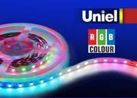 Светодиодная лента Uniel (04939) 5M RGB 72W ULS-5050-60LED/m-10mm-IP33-DC12V-14,4W/m-5M-RGB waterproof 72w 4000lm 300 smd 5050 led rgb car light strip w remote controller 12v 5m