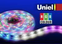 Светодиодная лента Uniel (04878) 5M RGB 72W ULS-5050-60LED/m-10mm-IP65-DC12V-14,4W/m-5M-RGB led strip color changing 5m 5050 rgbw led light strip remote controller 12v 2a power supply rgb white indoor for decoration