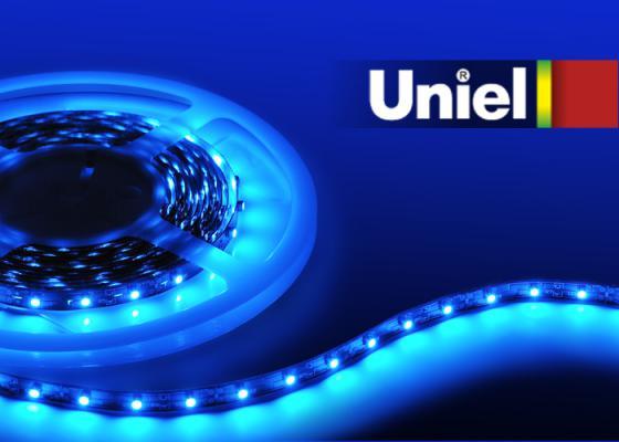Лента светодиодная линейная Uniel 04797 LED 24W ULS-3528-60LED/m-8mm-IP20-DC12V-4,8W/m-5M-BLUE uniel uls 10884