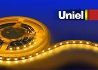 Светодиодная лента Uniel (04818) 5M желтый 72W ULS-5050-60LED/m-10mm-IP20-DC12V-14,4W/m-5M-YELLOW светодиодная лента uniel 04875 5m зеленый 72w uls 5050 60led m 10mm ip65 dc12v 14 4w m 5m green