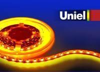 Светодиодная лента Uniel (04938) 5M желтый 72W ULS-5050-60LED/m-10mm-IP33-DC12V-14,4W/m-5M-YELLOW
