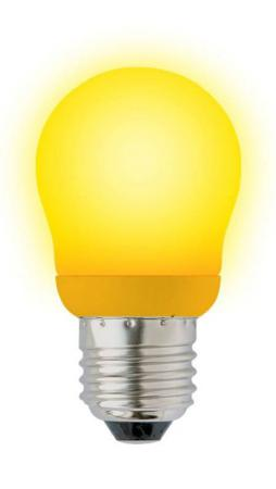 Лампа энергосберегающая шар Uniel 02977 E27 9W ESL-G45-9/YELLOW/E27 55w 3000k 1000 lumen 1 x h3 halogen bulb yellow light car fog lamps yellow lens dc 9 16v pair
