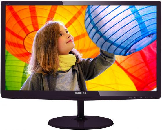 Монитор 22 Philips 227E6LDSD черный TFT-TN 1920x1080 250 cd/m^2 1 ms VGA DVI HDMI Аудио монитор 21 5 asus ve228tlb черный tft tn 1920x1080 250 cd m^2 5 ms dvi vga аудио usb