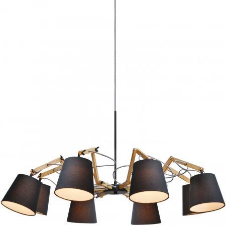 Подвесная люстра Arte Lamp Pinoccio A5700LM-8BK подвесная люстра arte lamp pinoccio a5703lm 6wh