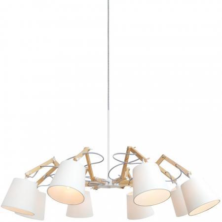 Подвесная люстра Arte Lamp Pinoccio A5700LM-8WH подвесная люстра arte lamp pinoccio a5703lm 6wh