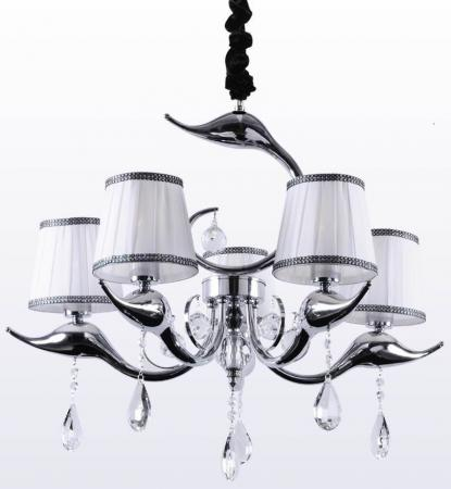 Подвесная люстра Crystal Lux Flamingo SP-PL5 Chrome