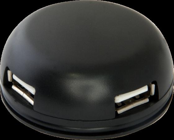Концентратор USB 2.0 Defender Quadro Light 4 x USB 2.0 черный 83201