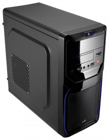 Корпус microATX Aerocool Qs-183 Advance Blue Без БП чёрный qs 183 advance blue