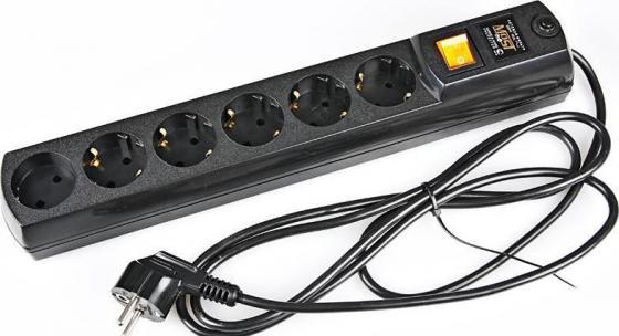 Сетевой фильтр MOST H6 6 розеток 5 м черный