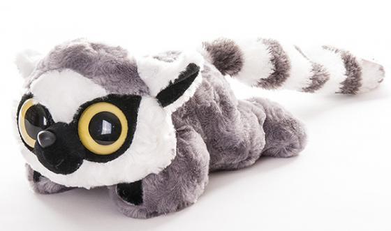 Мягкая игрушка Aurora Юху и друзья Лемур Лемми 16 см белый серый плюш синтепон лежачий