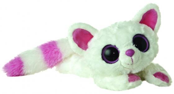 Мягкая игрушка лисица Aurora Юху и друзья Лисица Памми лежачая 16 см белый синтепон плюш мягкая игрушка aurora юху и друзья малая панда лежачая 23 см фиолетовый плюш