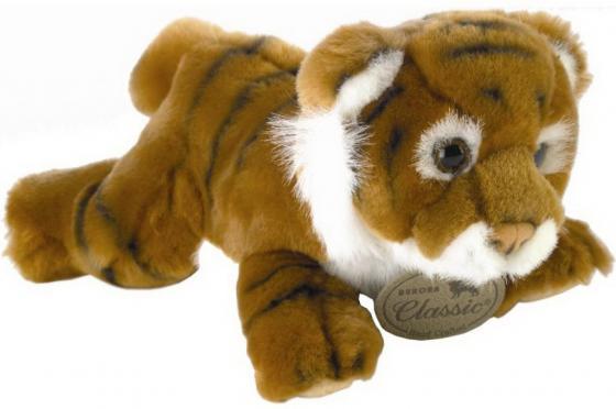Мягкая игрушка тигр AURORA тигр 28 см коричневый плюш синтепон 300-17