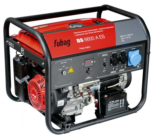 Генератор Fubag BS 6600 A ES 10.9 л.с бензиновый генератор fubag bs 3300 es бензиновый