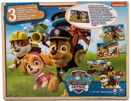 Игровой набор Paw Patrol Spinmaster деревянный пазл Щенячий Патруль 80 предметов ящики для игрушек щенячий патруль paw patrol комод плетёный