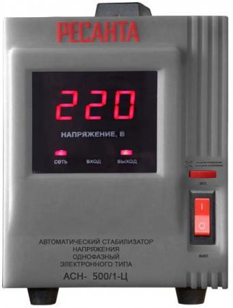 Стабилизатор напряжения Ресанта АСН-500/1-Ц серый сварочный полуавтомат ресанта саипа135