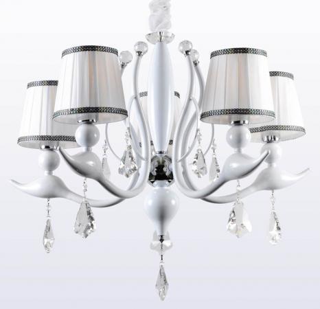 Потолочная люстра Crystal Lux Flamingo SP-PL5 White потолочная люстра crystal lux flamingo sp pl8 white