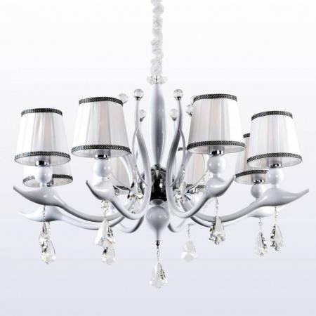 Потолочная люстра Crystal Lux Flamingo SP-PL8 White потолочная люстра crystal lux flamingo sp pl8 white
