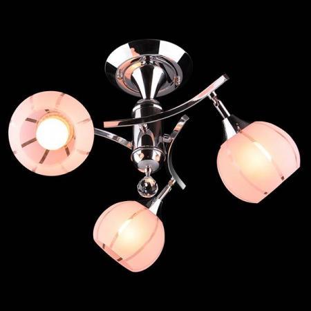Потолочная люстра Eurosvet 3353/3 хром/розовый eurosvet потолочная люстра eurosvet 3353 3н золото коричневый