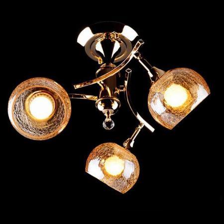 Потолочная люстра Eurosvet 3353/3Н золото/коричневый eurosvet потолочная люстра eurosvet 3353 3н золото коричневый