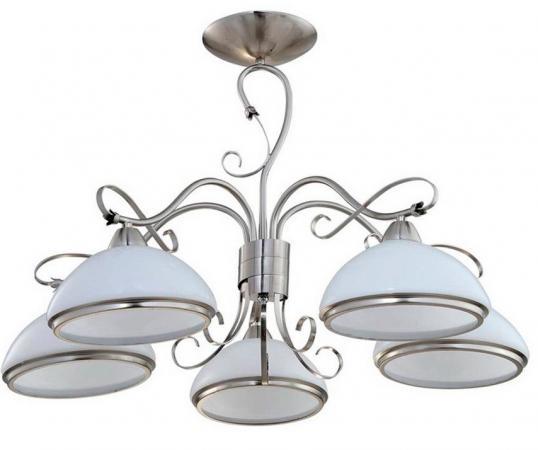 Потолочная люстра IDLamp Pira 808/5PF-Whitechrome idlamp светильник потолочный 818 8pf whitechrome