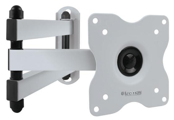 Кронштейн Kromax DIX-15 белый -28 наклонно-поворотный до 30кг