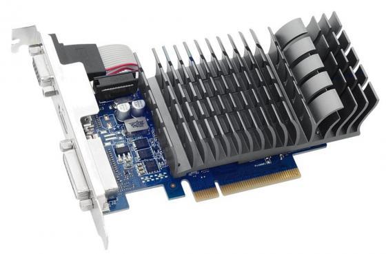 Видеокарта 1024Mb ASUS GeForce GT710 PCI-E 64bit GDDR3 DVI HDMI GT710-1-SL Retail видеокарта asus geforce gt 710 1024mb gt710 sl 1gd5 dvi vga hdmi ret
