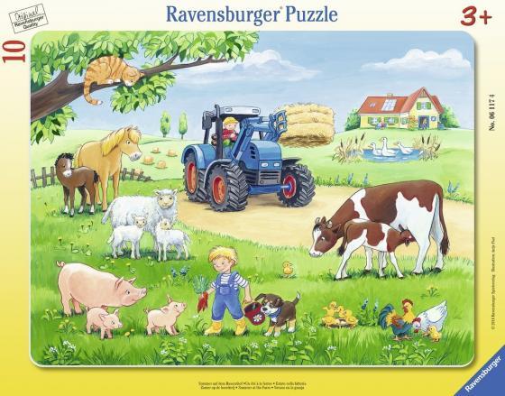 Пазл 10 элементов Ravensburger Лето в деревне 06117 как дом в деревне на мат капиталл