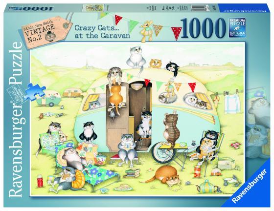 Пазл 1000 элементов Ravensburger «Безумные коты»