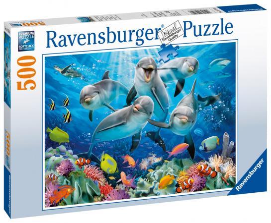Пазл 500 элементов Ravensburger Дельфины 14710 ravensburger пазл дельфины 500 деталей