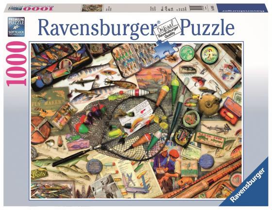 Пазл 1000 элементов Ravensburger Коллекция рыбака 19600