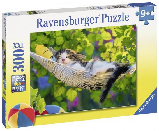 Пазл 300 элементов Ravensburger Кошка в гамаке 13204 цена