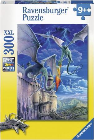 Пазл 300 элементов Ravensburger Огнедышащий дракон 13193 цена
