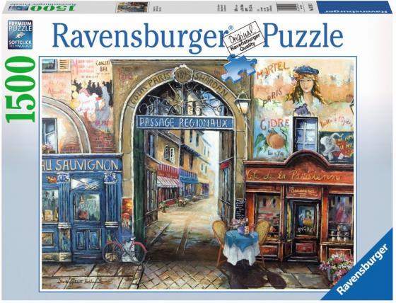 Пазл 1500 элементов Ravensburger Улочка в Париже 16241 пазл ravensburger галерея сердец 1500 элементов