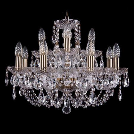 bohemia ivele crystal 1406 8 4 195 pa leafs Подвесная люстра Bohemia Ivele 1406/8+4/195/Pa