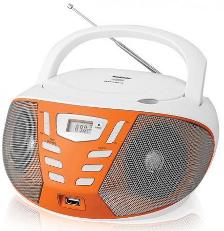 Магнитола BBK BX193U белый оранжевый тостер bbk tr72m white