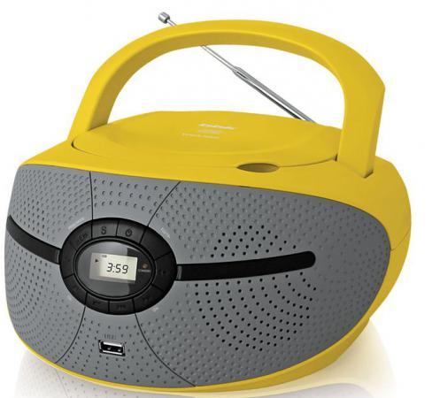 Магнитола BBK BX195U желтый аудиомагнитола bbk bx195u желтый bx195u желтый