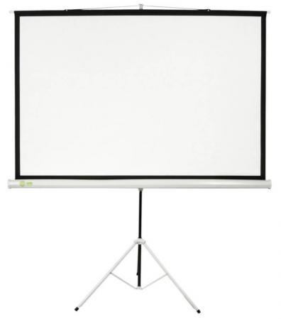 Экран напольный Cactus Triscreen CS-PST-104X186 104.4x186см белый экран напольный cactus triscreen cs pst 180x180 180x180см 1 1 белый