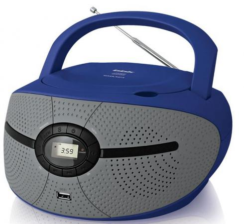 Магнитола BBK BX195U голубой серый аудиомагнитола bbk bx195u желтый bx195u желтый