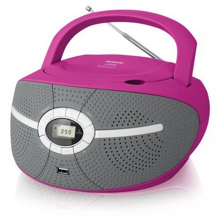 Магнитола BBK BX195U розовый аудиомагнитола bbk bx195u розовый