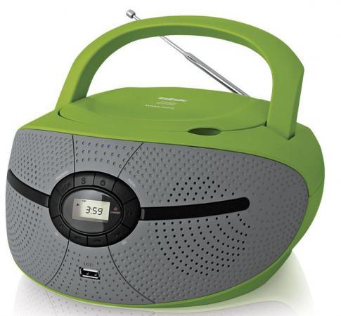 Магнитола BBK BX195U зеленый серый аудиомагнитола bbk bx195u голубой и серый
