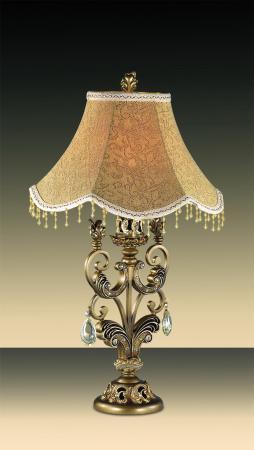 Настольная лампа Odeon Ponga 2431/1T светильник настольный odeon light 2431 1t odl13 623 e27 60w 220v ponga бронза хрусталь [2]