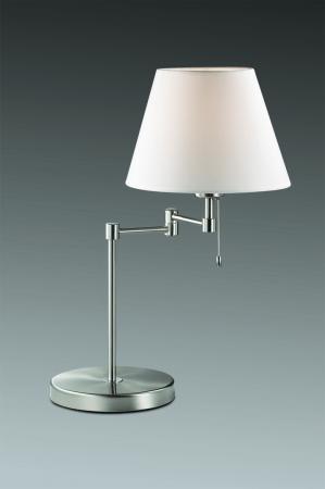 Настольная лампа Odeon Gemena 2480/1T бра odeon light 2480 1w никель абажур белый с выключателем e14 40w gemena