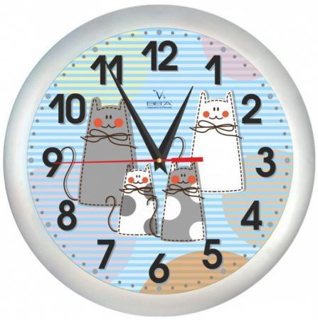 Часы настенные Вега Кошки П 1-5/7-206 серебристый любовные кошки 3d виниловые настенные часы black record home bedroom wall art decoration